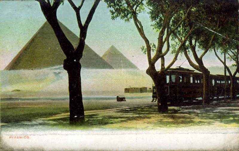 EGYPT Cairo-The Pyramids 1910