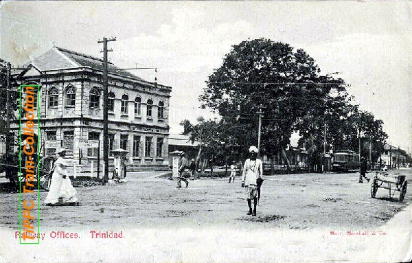 TRINIDAD Port of Spain-Railway Offices 1907